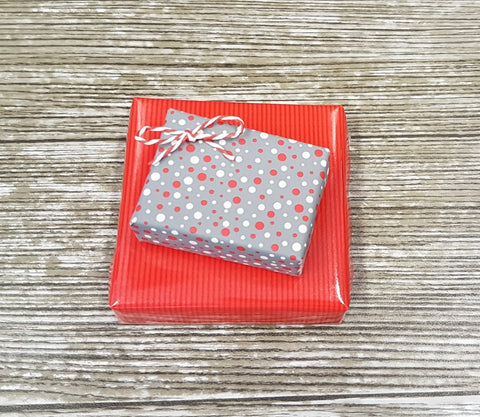Cute Xmas Gift Wrap Matte Grey Sprinkle Design - Roll