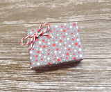Cute Xmas Gift Wrap Matte Grey Sprinkle Design