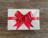 Large Red Gift Bow-Shiny Red Pull Bow