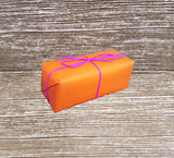 Bright Orange Gloss Wrapping Paper-Glossy Orange Gift Wrap