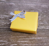 Plain yellow glossy gift wrap-Yellow Wrapping Paper Roll