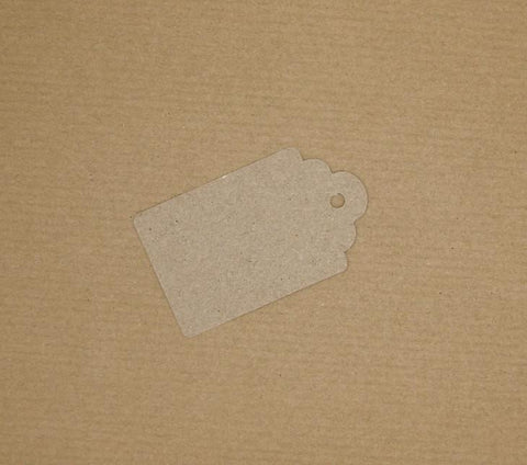 Scalloped Luggage Tag Brown Kraft with twine (100% Recycled Card) - Giftwrapit