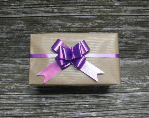 Purple Gift Bow - small