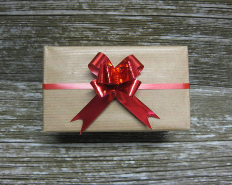Small Red Gift Bow-Small Pull Bow Shiny Red
