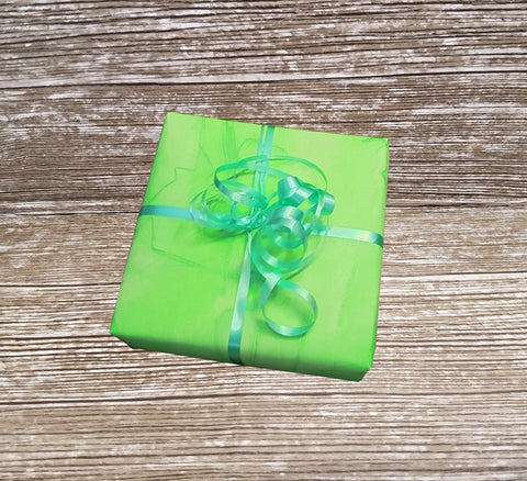 Lime Green Marble Wrapping Paper-Light Green Matte Gift Wrap