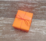 Bright Orange Wrapping Paper-Matte Orange Gift Wrap Roll