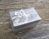 Reversible Marbled Matte Metallic Silver & Pewter Gift Wrap