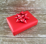 Matte Metallic Red Plain Christmas Wrapping Paper Roll