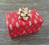 Cute Cat Print Xmas Wrapping Paper