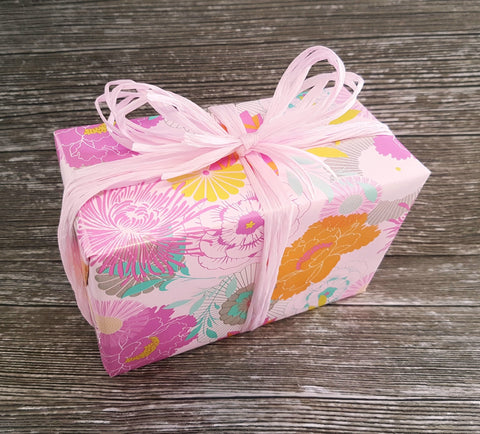Pretty Floral Wrapping Paper-Peony Pink