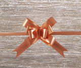 Copper Rose Gold Gift Pull Bows