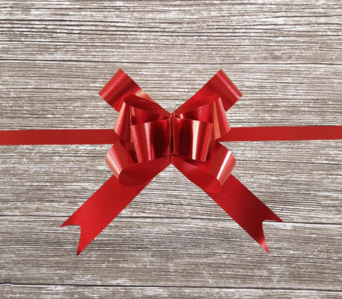 Pop-up Gift Bow Matte Metallic Red