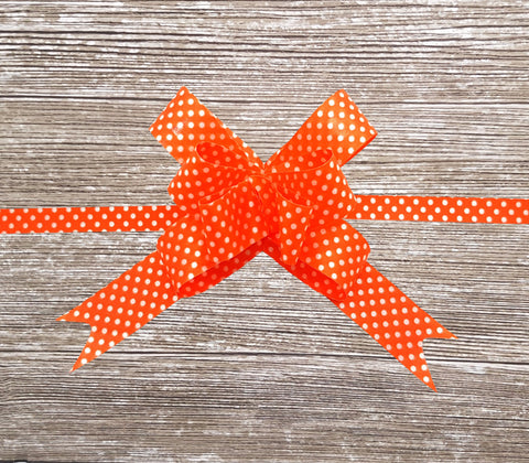 Orange Gift Bow-Polka Dot Bow