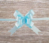 Pastel Blue Gift Bow-Baby Blue Pull Bow-Pop up Magic Gift Bow