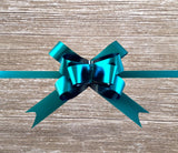 Pop-up Gift Bow Matte Metallic Turquoise-Teal Gift Bow