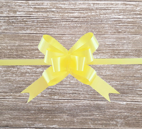 Pastel Yellow Gift Bow-Yellow Pull Bow-Yellow Bow