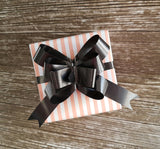 Pastel Stripe Gift Wrap - Peach and White