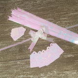 Pearly Pink Iridescent Gift Tag and Bow Set