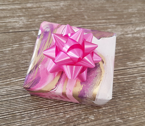 Pink, Lilac and Gold Marbled Wrapping Paper Roll