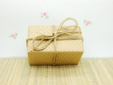 Recycled Kraft and Matte Gold Wrapping Paper