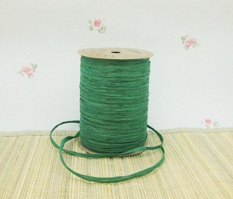 Soft Fine Rayon Raffia Forest Green