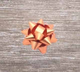 Copper-Rose Gold Gift Bow-Copper Self adhesive Star Bow