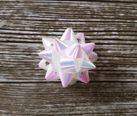 Star Bow Pearly Iridescent White