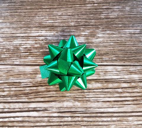 Star Bow Vibrant Metallic Green - Giftwrapit