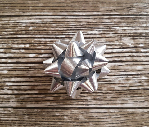 Star Bow Metallic Silver