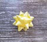 Yellow Gift Bow-Yellow Star Bow-Unisex Baby Shower Gift