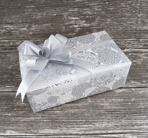 Luxury Silver Christmas Wrapping Paper