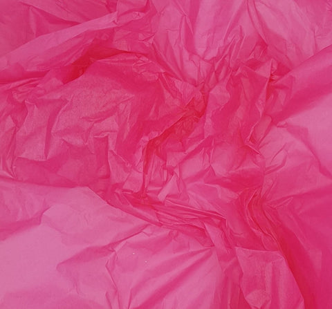 Hot Pink Tissue Paper-Cerise Pink Tissue Paper Sheets
