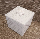 White Luxury Wrapping Paper-Geometric Print Paper