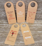 Assorted Pack of 5 Wine Tags-Gift for Wine Lovers
