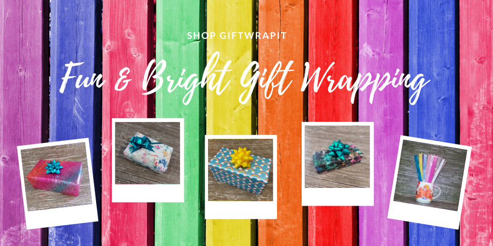 Bright and Neon Gift Wrapping