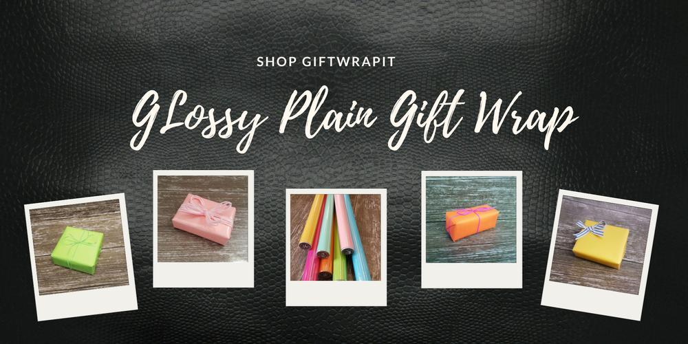 Glossy Plain Gift Wrap-solid colour wrapping paper