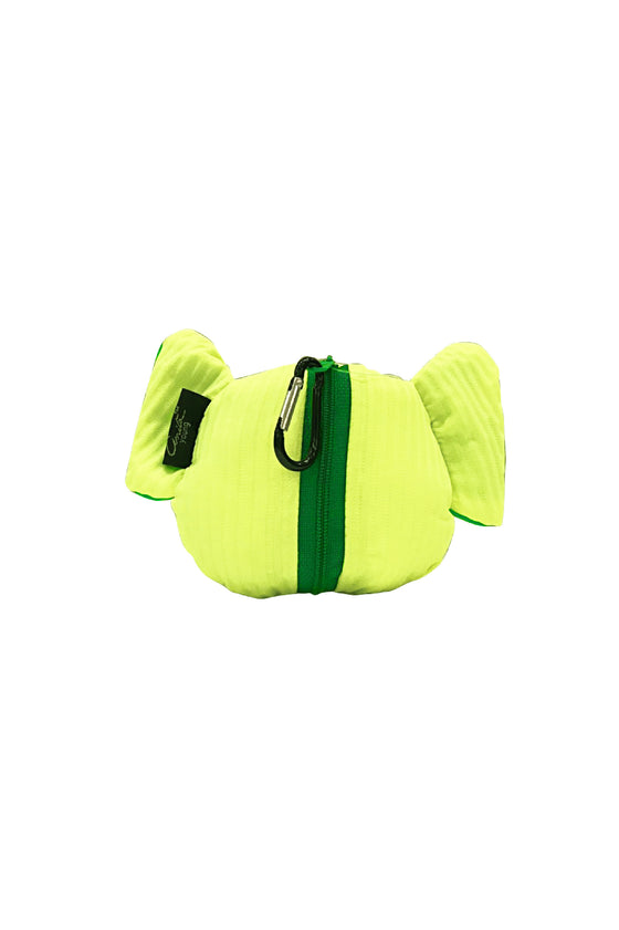 ELEPH FOLDABLE PLEAT - TOTE S :  Lime / Green