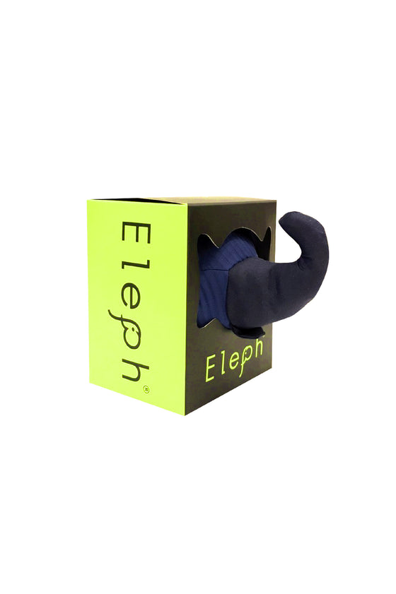ELEPH FOLDABLE PLEAT - TOTE S :  Navy / Navy