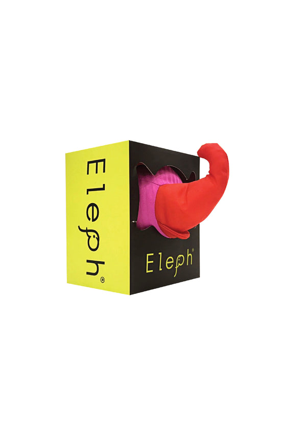 ELEPH FOLDABLE PLEAT - TOTE S :  Pink / Red