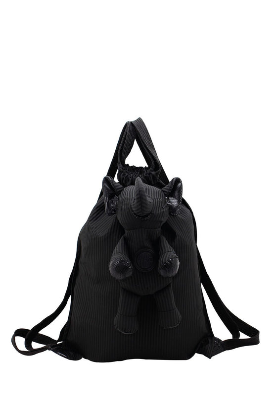ELEPH FOLDABLE PLEAT - BACKPACK : Black