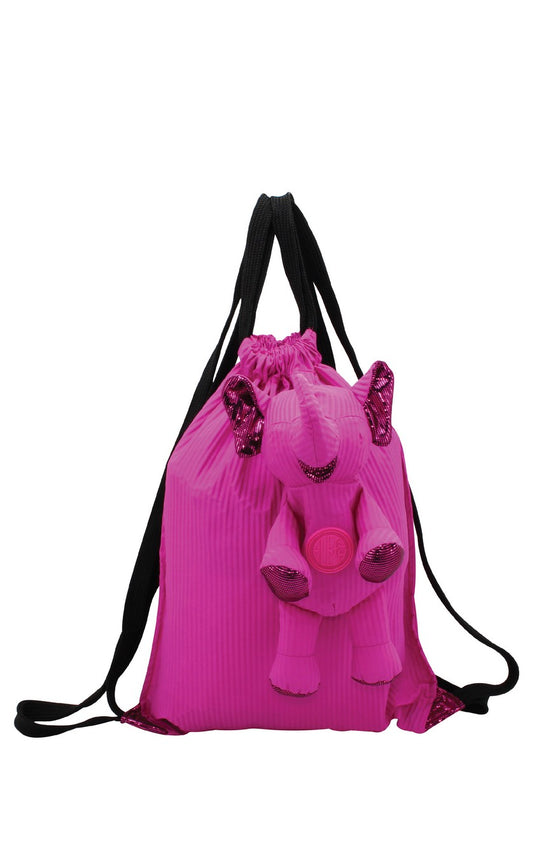 ELEPH FOLDABLE PLEAT - BACKPACK : Pink