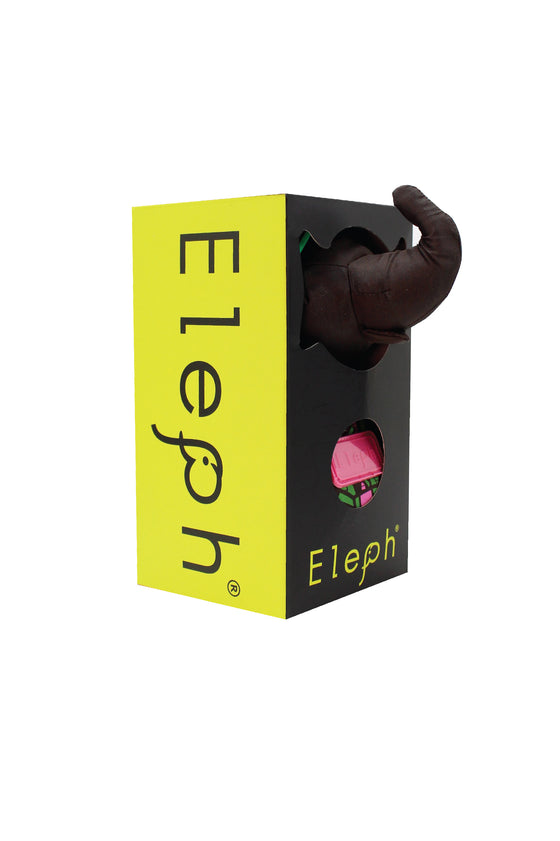ELEPH MUDMEE - L : Chocolate / Green , Pink