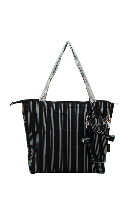 ELEPH FOLDABLE PLEAT 3 STRIPE - M : Black / Grey