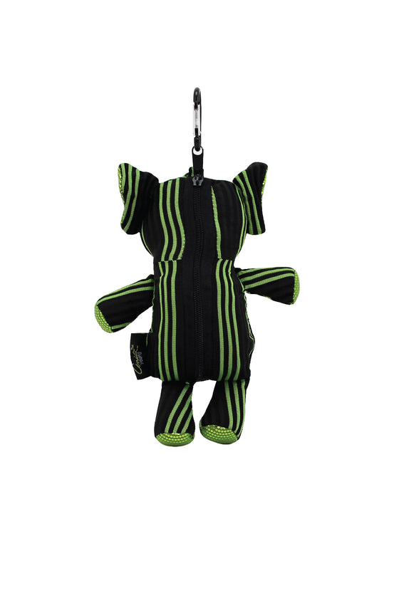 ELEPH FOLDABLE PLEAT 3 STRIPE - M : Black / Lime