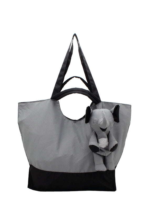 ELEPH FOLDABLE PLEAT - TOTE  :  Grey