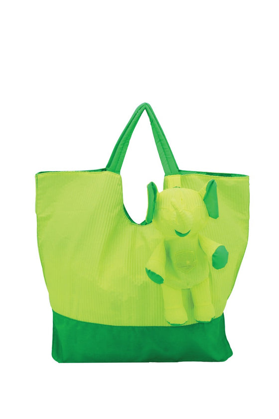 ELEPH FOLDABLE PLEAT - TOTE  :  Lime