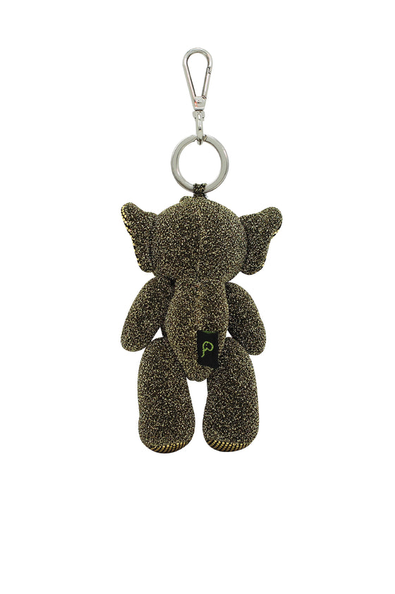 ELEPH GLIT DOLL KEY RING : Gold