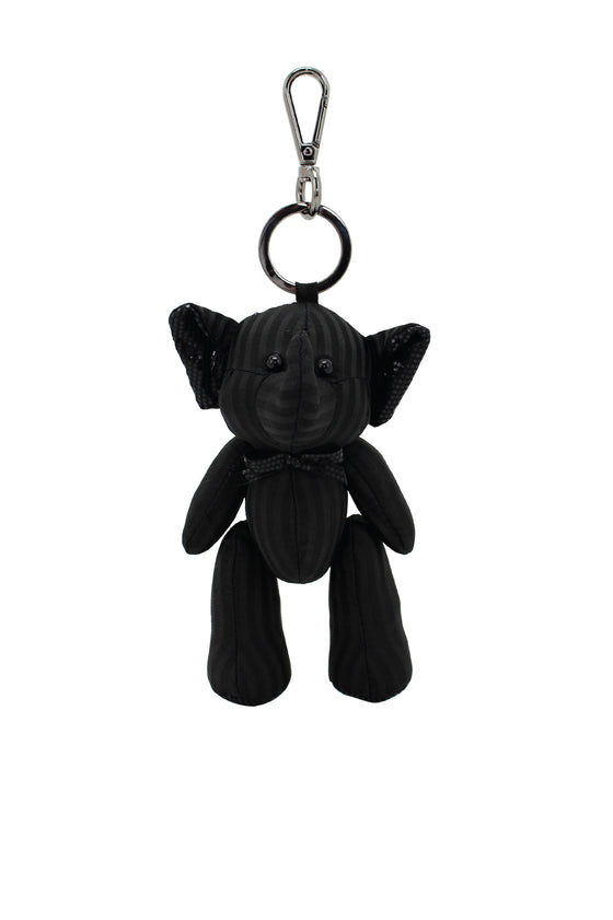 ELEPH PLEAT DISCO DOLL KEY RING : Black