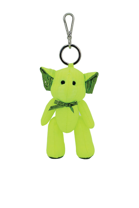 ELEPH PLEAT DISCO DOLL KEY RING : Lime