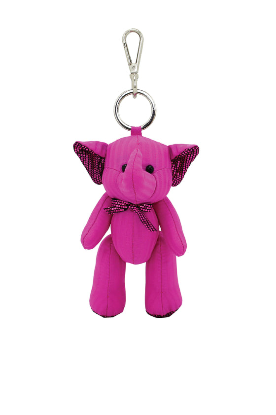 ELEPH PLEAT DISCO DOLL KEY RING : Pink